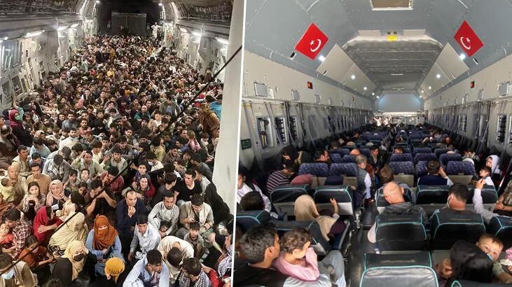 Afganistan'dan kalkan iki uçak arasındaki fark! Biri Türkiye biri ABD...